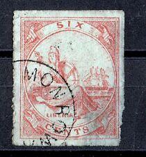 "LIBERIA - 1864 Sc #7 ""Liberia"" Red Used Value over $100.00 Very rare. Look!!!"
