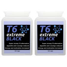200 T6 EXTREME BLACK strong diet pills SLIMMING/WEIGHT LOSS; hardcore fat burner