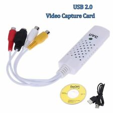 USB 2.0 Video Capture Card Converter Audio Video Grabber Adapter TV Tuner--