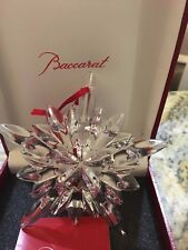 Baccarat Clear Courchevel French Crystal Christmas Snowflake Ornament  2804659