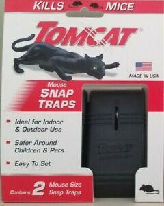 2 Piece Mouse Mice Tomcat Rat Snap Trap Reusable Pesticide-Free NEW