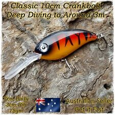 Yellowbelly Lure, Cod Lure, Redfin Perch, Bass, Freshwater Deep Diving Lure 10cm