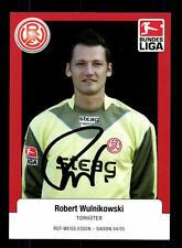 Robert Wulnikowski Autogrammkarte Rot Weiss Essen 2004-05 Original Sig+A 131235