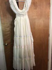 New listing Vtg 70s Gunne Sax Dress Romantic Bridal Cream Lace Tiered Wedding Maxi Sz Xs S