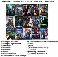 AVENGERS ULTIMATE MARVEL SUPERHEROS ALL 15, CAPTAIN AMERICA,IRON MAN, NEW R2 DVD