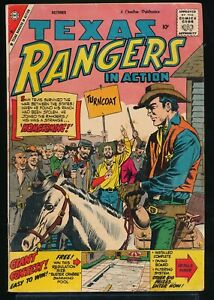 TEXAS RANGERS in ACTION No. 18 1959 Charlton Western Comic Book 4.0 VG