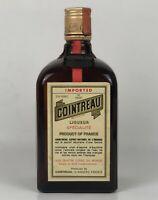 Vintage Cointreau Liqueur Glass Bottle Alcohol Empty France 3/4 Quart 80 Proof