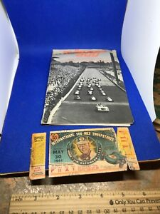 1962 Indianapolis 500 Ticket F Box 11 Row A Seat 1 Ruff Condition With Extra