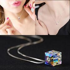 New Fashion Charm Jewelry Crystal Pendant Chain Chunky Statement Choker Necklace