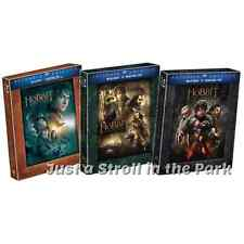 The Hobbit: Complete Extended Edition Movie Trilogy 1 2 3 Box/BluRay Set(s) NEW!