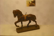 Soldatino Toy soldier in Pasta cavallo cn base in legno cm 5 al garrese