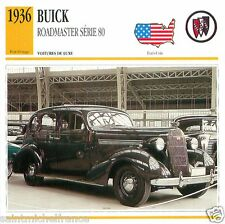 BUICK ROADMASTER SERIE 80 1936 CAR VOITURE USA ETATS-UNIS CARTE CARD FICHE
