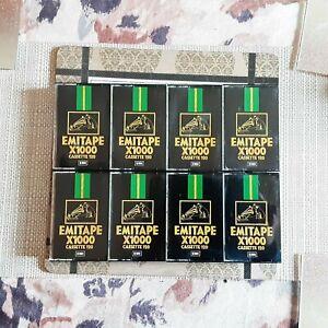 8 x EMITAPE X1000 C120 EMI VINTAGE USED CASSETTE TAPE