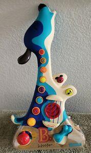 NEW B. Kids 8 Musical Buttons 3 Play Modes Woofer Hound Dog Guitar