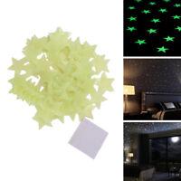 100Stk Leuchtsterne Selbstklebend Nachtleuchtend Wandtattoo Sticker Aufkleber DE