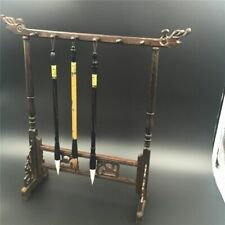 Bamboo Brush Hanger Rack Retro Paintings Calligraphy Pen Hooks Holder Art Tools