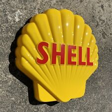 SHELL CLAM LOGO LED LIGHT BOX ADVERTISING SIGN GARAGE PETROL AUTOMOBILIA OIL