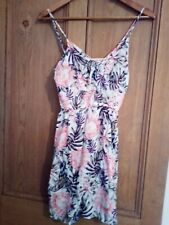 Womens H&M Floral Pink/White Dress, UK Size 4, New with tags