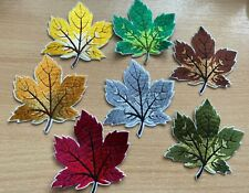 Embroidered Maple Leaf Patch Iron On Sew On Applique Badge B2G1F Assorted Colour