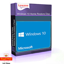 Windows 10 Home  32 Bit Re-Install Restore Repair Boot Disc Recovery DVD