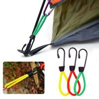 1pc Outdoor Camping Tent Elastic Rope Buckle Hook Fixed Bundle Straps Camping