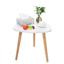 Modern Triangle Coffee Tea Table Wood Furniture Home Decor Sofa Side Table White