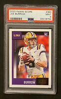 2020 Panini Score Joe Burrow Rookie Card RC PSA 9 Mint 🔥 Bengals LSU Tigers OSU