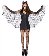 Ladies Womens Sexy Vampire Bat lady Halloween Costume Fancy Party Dress ladcos9