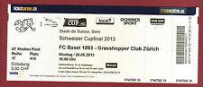 Orig.Ticket   Schweizer Cup  12/13  FINALE    FC BASEL - GRASSHOPPER ZÜRICH  !!