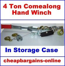 4 TON HAND WINCH 4 TON COMEALONG HAND WINCH 4x4 4WD RECOVERY WINCH PULLER TOOL
