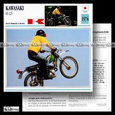 #043.19 KAWASAKI KS 125 1974 Trail Bike Fiche Moto Motorcycle Card