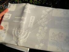 S 7x5 ft/ 2x1.5m SHABBAT TABLECLOTH, Shabbes Kiddush Jewish Menorah Wine Candles