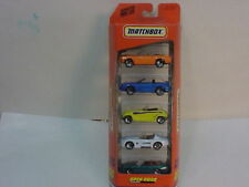 MATCHBOX SUPERFAST 5 PACK ACTION CAR GIFT SET OPEN ROAD NEW MIB