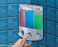 Aviva Trio Chrome Soap Shampoo Triple Corner or Wall Bathroom Shower Dispenser