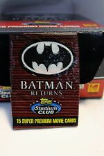 NIB 36 Sealed Wax Packs 1991 Batman Returns Movie cards Collectors Editon