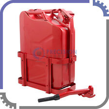 Jerry Can with Holder 20L Liter (5 Gallons) - Steel Tank Fuel Gas Gasoline Red
