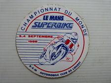 Ancien Autocollant moto : championnat du monde SUPERBIKE le mans 1988
