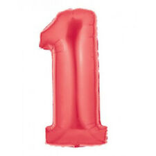 "GIANT 40"" Red 1st Birthday Balloon"
