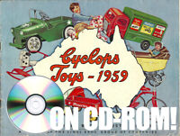 1959 CYCLOPS AUSSIE TIN TOY PEDAL CAR PRAM SCOOTER LINES BROS CATALOG ON CD-ROM!