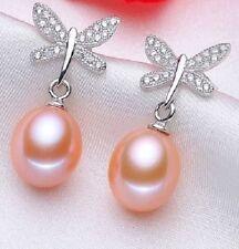 White Not Enhanced Sterling Silver Fine Earrings