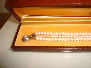 Altes Armband mit Koralle und echten Perlen