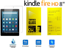 "100% Genuine Tempered Glass Screen Protector For AMAZON KINDLE FIRE HD 8"" INCH"