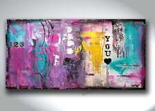 JEAN SANDERS - Bild ***HANDGEMALTE ORIGINALE*** abstrakt - 100x50 cm -Valentine