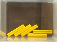 2x Lego Decorated Fence Yellow 5824 Garden