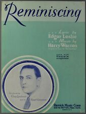 1930 REMINISCING Sheet Music GUY LOMBARDO Leslie and Warren