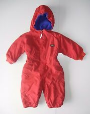 LL BEAN Red Warm Winter Ski SNOW SUIT Kid Size TODDLER 2T Youth Boys Girls Baby