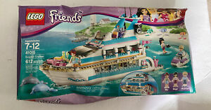 Lego Friends Dolphin Cruiser (41015), factory sealed never opened box crushed