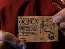 ORIGINAL QUEEN TICKET,THE HOT SPACE TOUR,ELLAND ROAD,LEEDS 1982....nicola