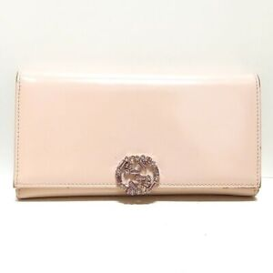 Auth GUCCI GG Sparkling 369670 Beige Patent Leather