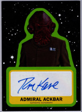 2019 Topps Journey To The Rise Of Skywalker Auto #ATK Tom Kane as Admiral Ackbar